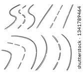 vector set of road   Shutterstock .eps vector #1341789464