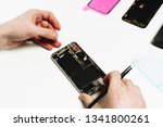 smart phone battery change...   Shutterstock . vector #1341800261