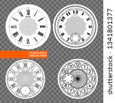 clock face blank set isolated... | Shutterstock .eps vector #1341801377