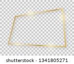 gold shiny rectangular frame... | Shutterstock .eps vector #1341805271