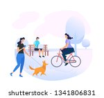 young people characters... | Shutterstock .eps vector #1341806831