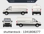 detailed cargo van vector... | Shutterstock .eps vector #1341808277