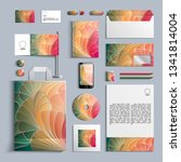 corporate identity template in... | Shutterstock .eps vector #1341814004