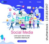 social media square banner with ... | Shutterstock .eps vector #1341814547