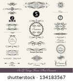 set of calligraphic labels and... | Shutterstock .eps vector #134183567