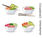 set of illustrations with...   Shutterstock .eps vector #1341839111