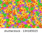 colored flowers background...