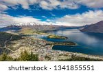 panoramic view  the remarkables ... | Shutterstock . vector #1341855551