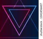 blue and purple retro neon... | Shutterstock .eps vector #1341856607