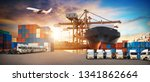 logistics and transportation of ... | Shutterstock . vector #1341862664
