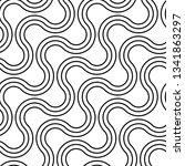 design seamless monochrome... | Shutterstock .eps vector #1341863297