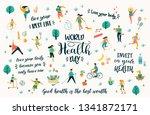 world health day. vector... | Shutterstock .eps vector #1341872171