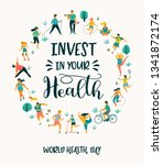 world health day. vector...   Shutterstock .eps vector #1341872174