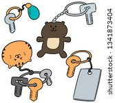 vector set of keychain | Shutterstock .eps vector #1341873404