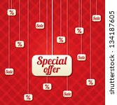 special offer poster with... | Shutterstock .eps vector #134187605