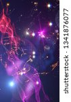 explosion of stars in space.... | Shutterstock . vector #1341876077