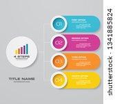 4 steps infographics chart... | Shutterstock .eps vector #1341885824
