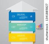 3 steps arrow timeline... | Shutterstock .eps vector #1341885827