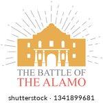 the battle of the alamo design | Shutterstock .eps vector #1341899681