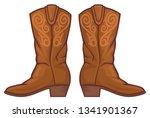 cowboy boots vector illustration | Shutterstock .eps vector #1341901367