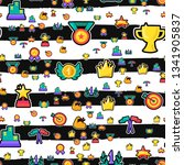 awards seamless color vector... | Shutterstock .eps vector #1341905837