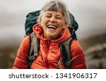 Close Up Of A Senior Woman...
