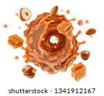 liquid sweet melted caramel ...   Shutterstock . vector #1341912167