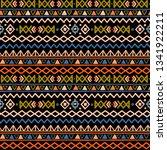 tribal art  ethnic seamless... | Shutterstock .eps vector #1341922211