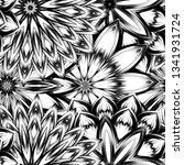 seamless floral background.... | Shutterstock .eps vector #1341931724