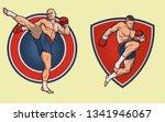 muay thai fighter set. the...   Shutterstock .eps vector #1341946067