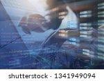 blockchain technology concept ... | Shutterstock . vector #1341949094