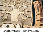 flea market  wooden products ... | Shutterstock . vector #1341962387