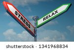 two street signs going to... | Shutterstock . vector #1341968834
