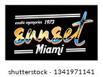 sunset calligraphic typography  ...   Shutterstock .eps vector #1341971141