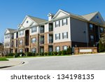 typical apartment complex... | Shutterstock . vector #134198135