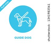 guide dog icon vector from...   Shutterstock .eps vector #1341983561