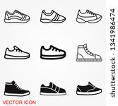 sneakers icon vector sign... | Shutterstock .eps vector #1341986474
