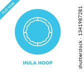 hula hoop icon vector from baby ... | Shutterstock .eps vector #1341987281