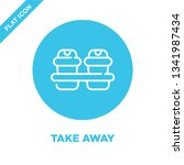 take away icon vector from take ... | Shutterstock .eps vector #1341987434