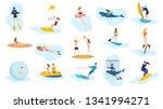 summer ocean activities set.... | Shutterstock .eps vector #1341994271