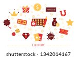 lottery concept. gamble and... | Shutterstock .eps vector #1342014167