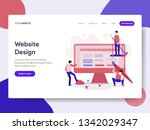 landing page template of... | Shutterstock .eps vector #1342029347