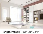modern bright living room ... | Shutterstock . vector #1342042544