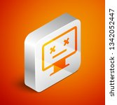 isometric dead monitor icon... | Shutterstock .eps vector #1342052447