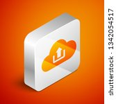 isometric cloud upload icon... | Shutterstock .eps vector #1342054517