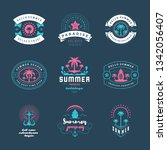 summer holidays labels and... | Shutterstock .eps vector #1342056407