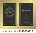 luxury business card and... | Shutterstock .eps vector #1342058297