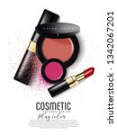 modern premium vip cosmetic ads ... | Shutterstock .eps vector #1342067201