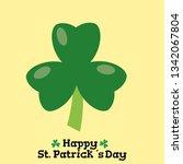 clover icon   vector | Shutterstock .eps vector #1342067804