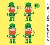 saint patrick s day cartoon... | Shutterstock .eps vector #1342067834